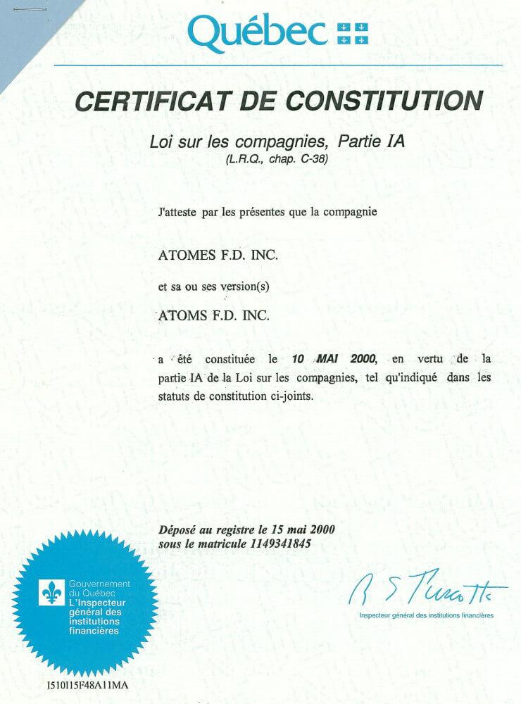 加拿大公司营业执照