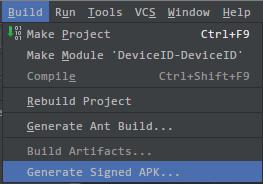 Android studio生成签名文件