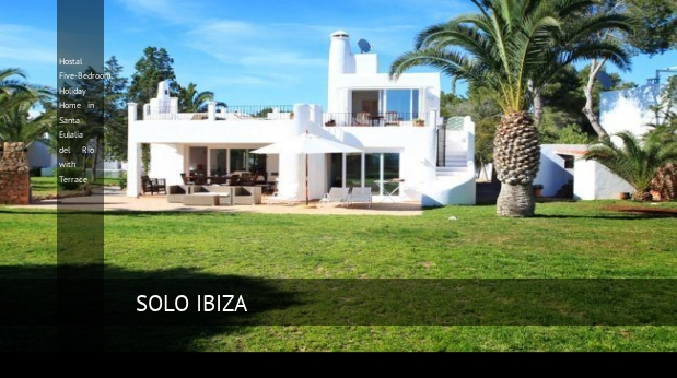 Hostal Five-Bedroom Holiday Home in Santa Eulalia del Río with Terrace reverva