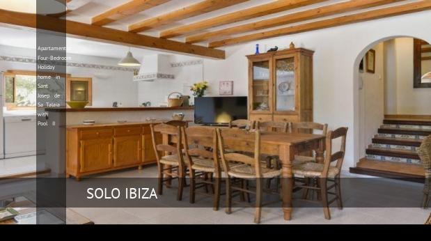 Apartamentos Four-Bedroom Holiday home in Sant Josep de Sa Talaia with Pool II reverva