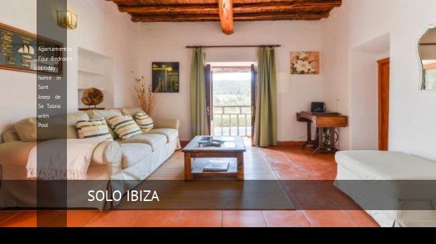 Apartamentos Four-Bedroom Holiday home in Sant Josep de Sa Talaia with Pool reverva
