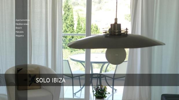 Apartamentos Mediterránea Beach Matutes Noguera booking