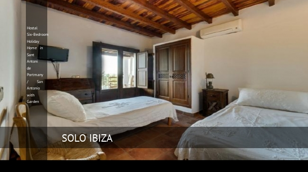 Hostal Six-Bedroom Holiday Home in Sant Antoni de Portmany / San Antonio with Garden opiniones