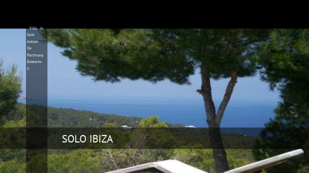Villa in Sant Antoni De Portmany Baleares II booking