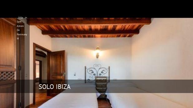 Villa in Sant Antoni De Portmany III booking