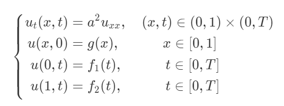 1D heat conduction equation