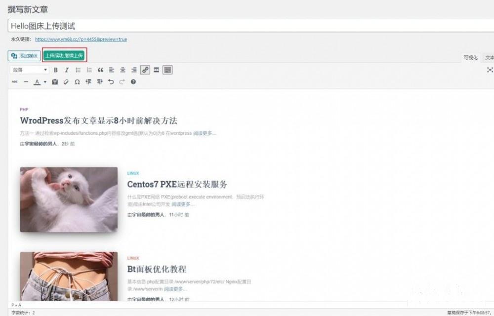 WordPress对接Hello免费图床方法教程插图