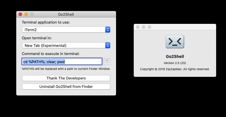 Go2Shell 2.5 简单强大的 Shell 增强工具