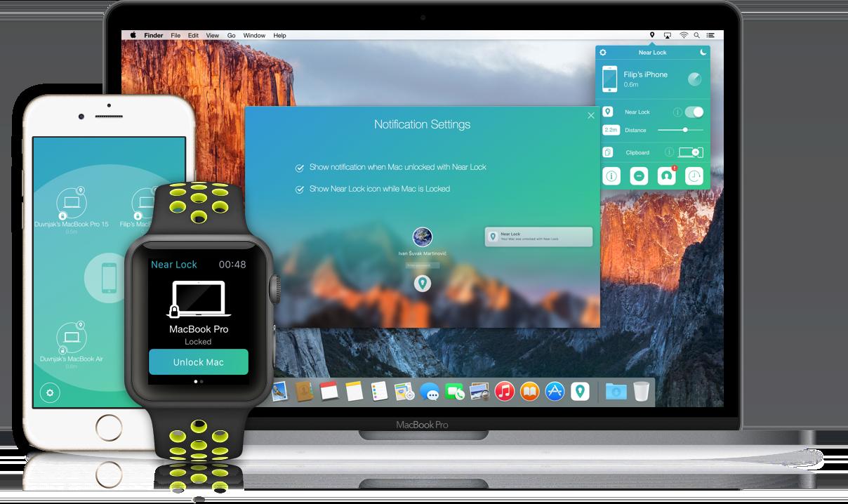 NearLock 5.1 一种锁定解锁 Mac 的新方法