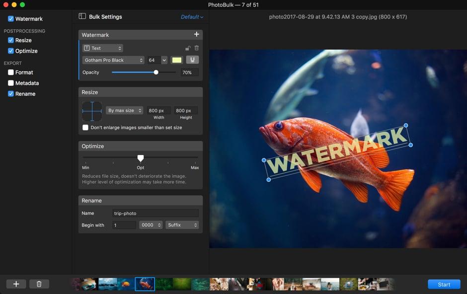 PhotoBulk 2.2 强大的图片批量处理工具
