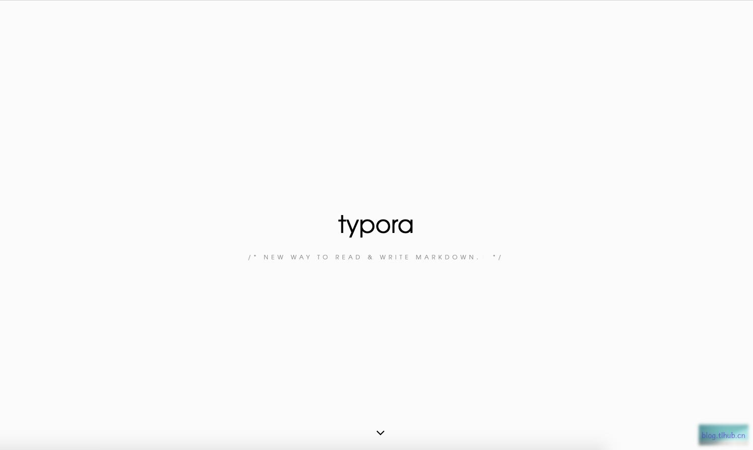 Typora 0.9.9.34 所见即所得的 Markdown 编辑器