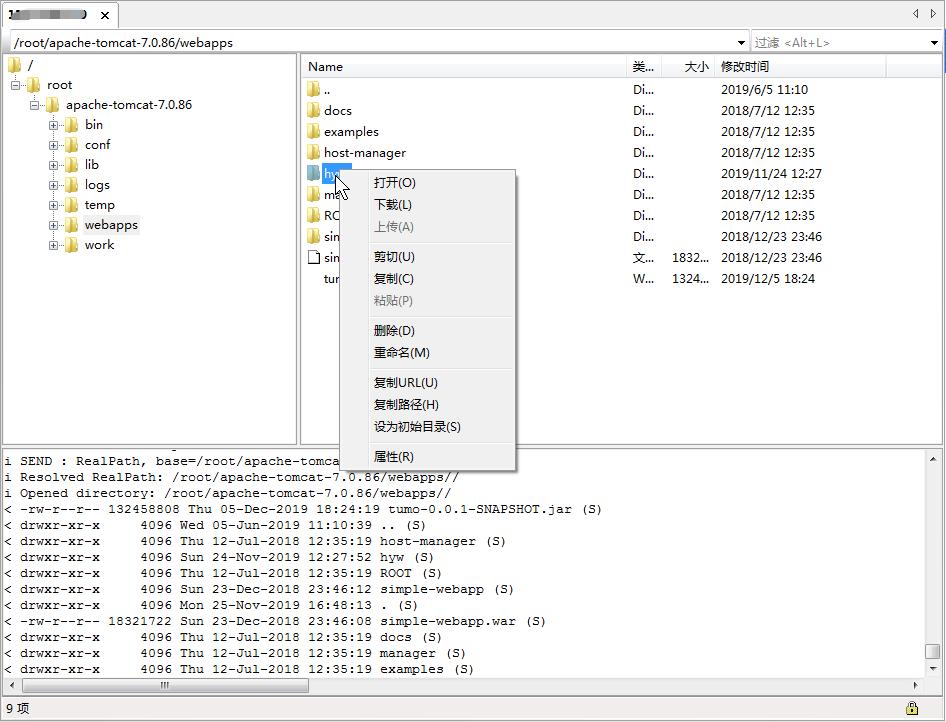 SecureFX操作界面