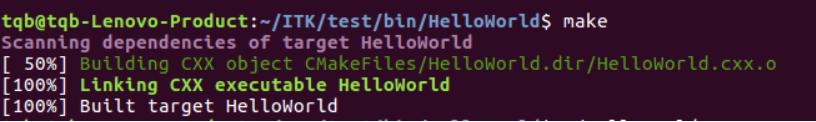 生成 HelloWorld 可执行文件