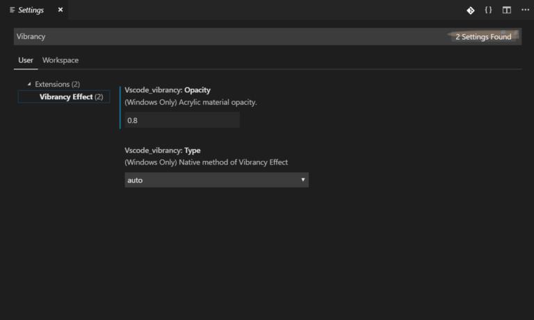 Visual Studio Code的毛玻璃效果VScode插件