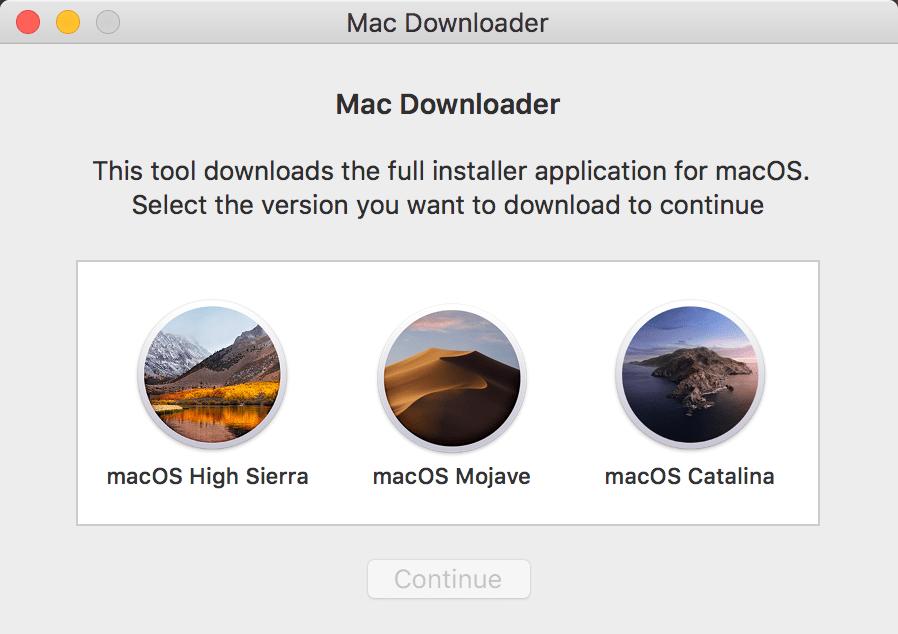 Mac Downloader下载MacOs完整安装包