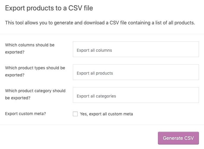 Bao gồm nội dung trong tệp CSV.