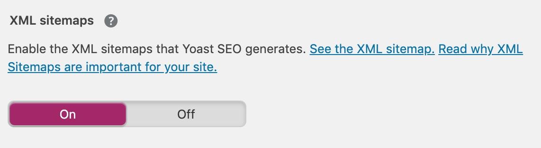 Thêm sơ đồ trang XML với Yoast SEO.