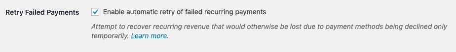 Thử lại các khoản thanh toán không thành công.