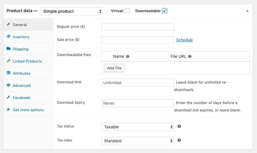 Định cấu hình các sản phẩm ảo và có thể tải xuống.