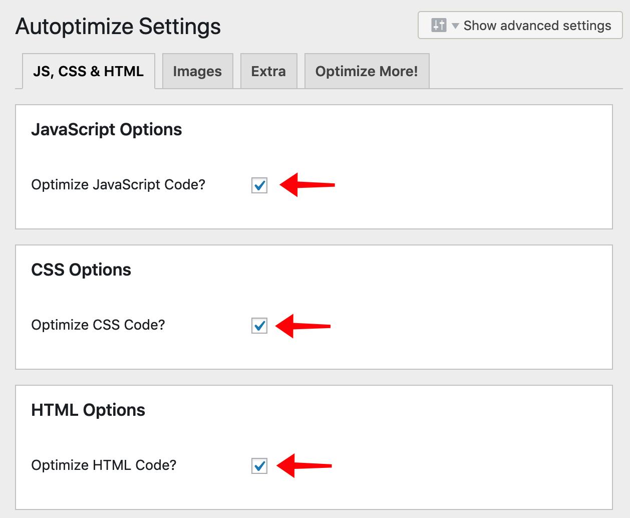 Giảm thiểu tài nguyên CSS và JavaScript.
