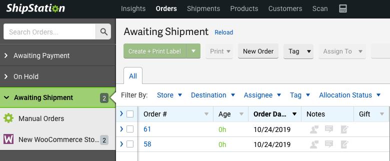 Thực hiện các gói (packages) với ShipStation.