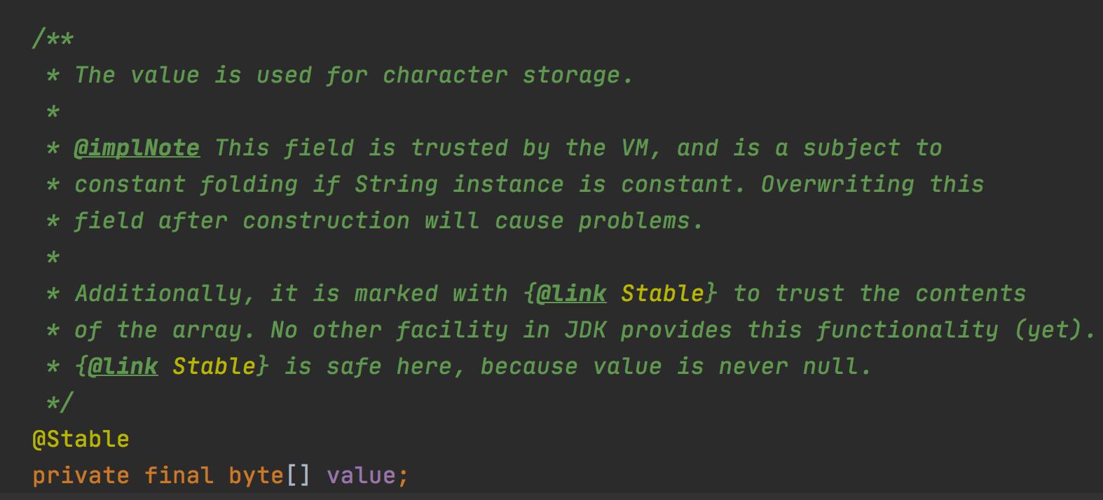 String 底层从 char[] 数组换位了 byte[]