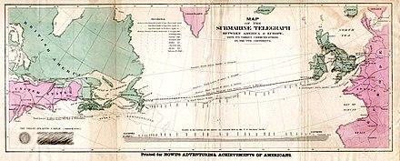 1858 年的跨大西洋海底电报电缆 - wiki