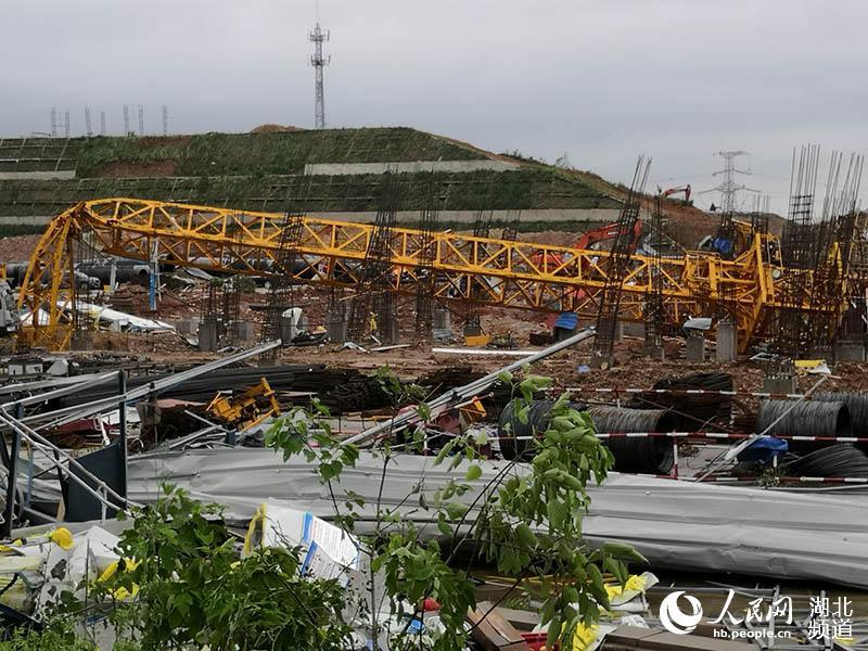 人民网记者探访武汉蔡甸9级大风灾后现场。人民网 王郭骥摄