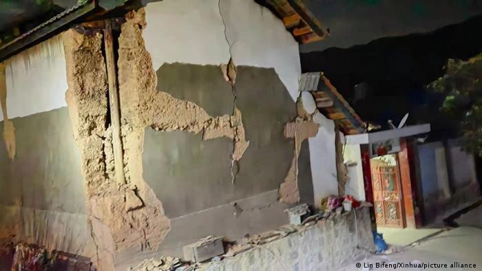 图为发生地震的云南漾濞彝族自治县