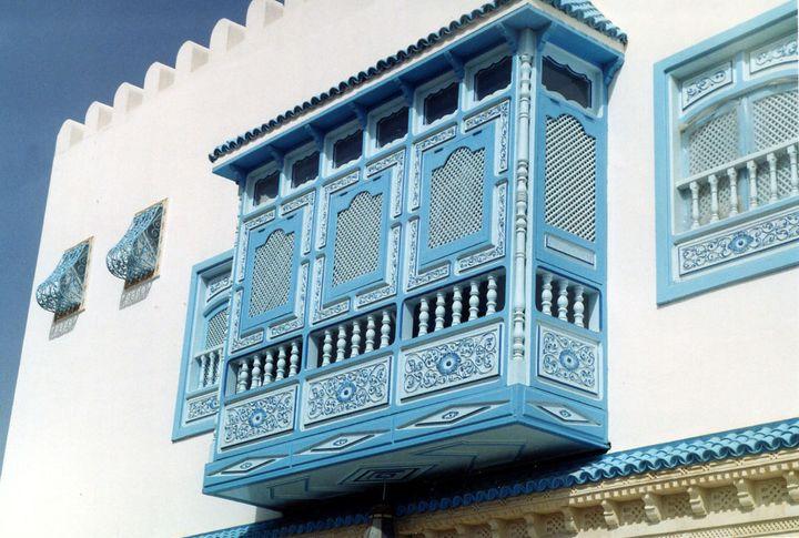 突尼斯建筑中的 Mashrabiya