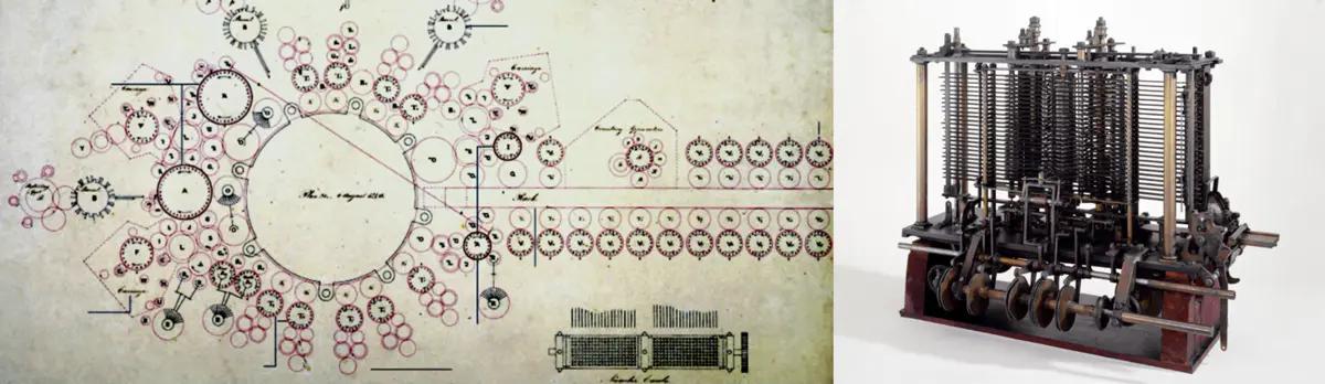 伦敦科学博物馆·分析机设计图纸&模型机