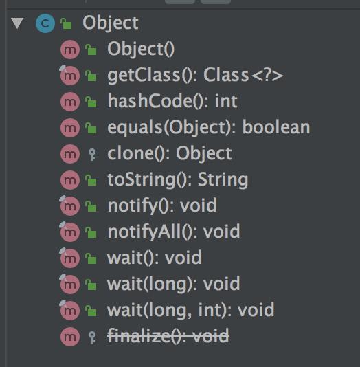 Object 类拥有的方法