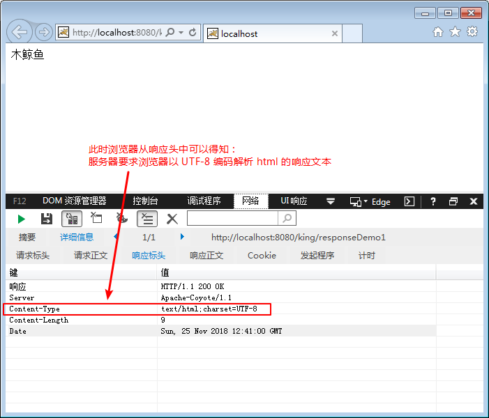 通过响应头设置,要求浏览器以特定编码解析响应文本