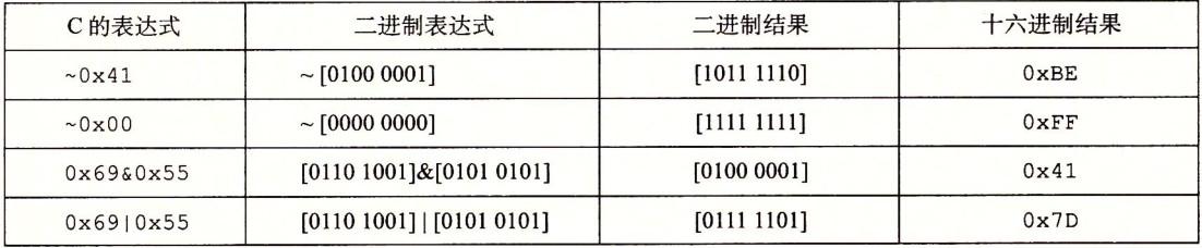 C语言中的位级运算