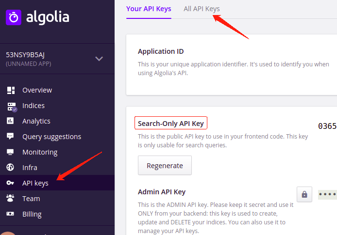 algolia-search-only-key