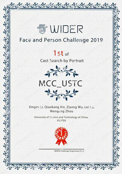 The photo of award