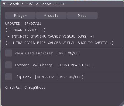 原神·Public·弓箭蓄力加速定怪无CD显宝箱v2.0.07