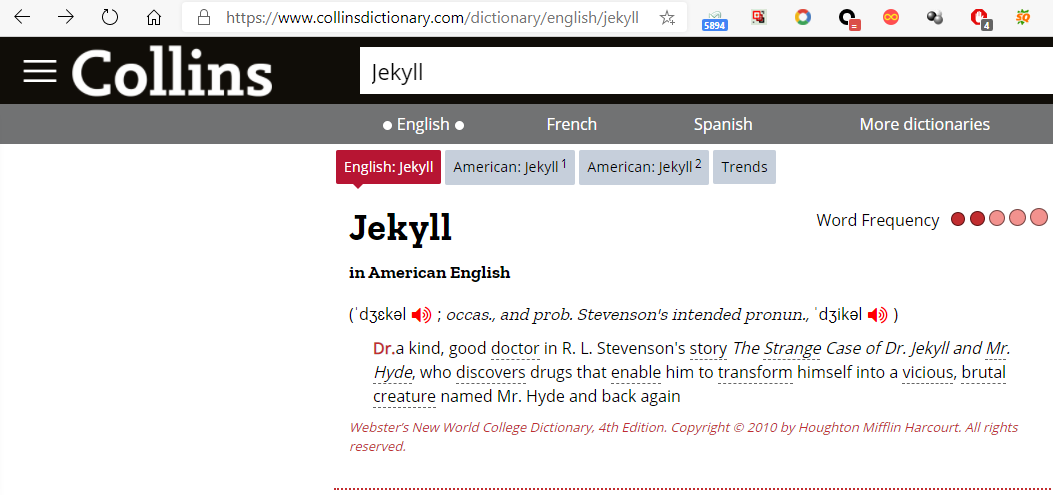 极客中心-柯林斯词典Jekyll