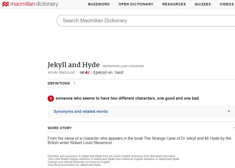 极客中心-词典中的Jekyll-meaning