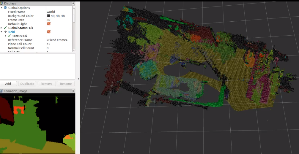 Real-time voxel based 3D semantic mapping with a hand held RGB-D camera [SLAM Project]