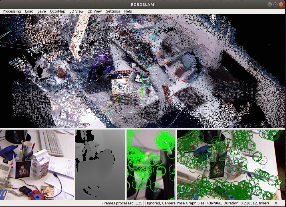 RGBD SLAMv2: build and run 环境搭建与运行