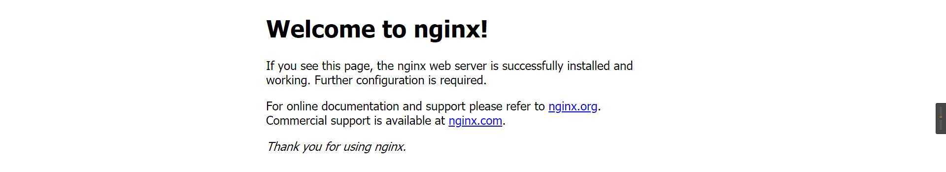 Welcome to nginx