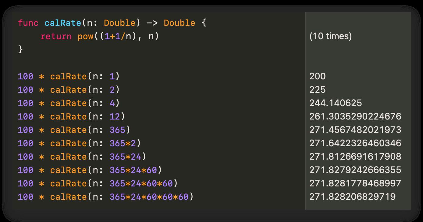 SwiftPlayground计算复利
