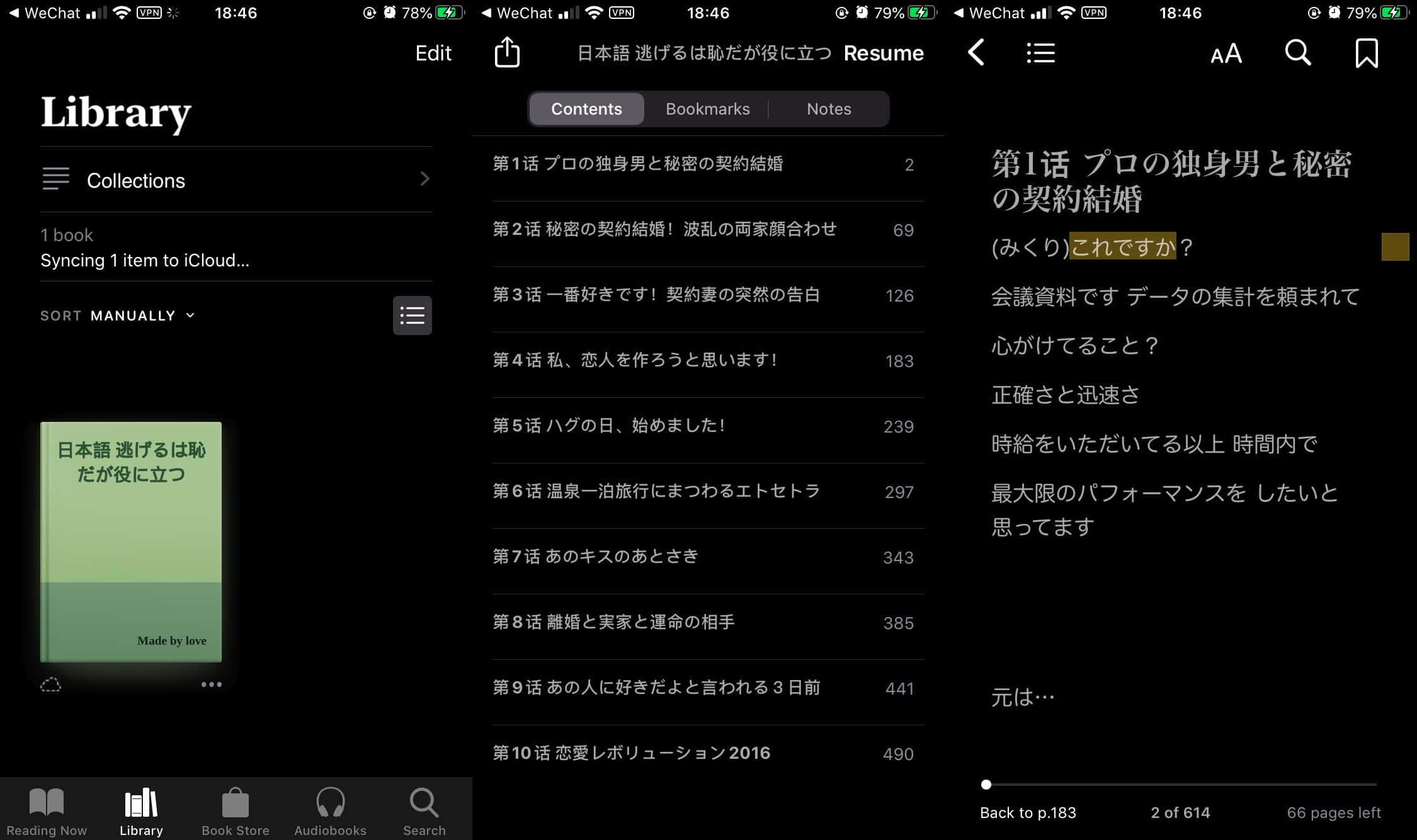 在 iBook 上查看 .epub